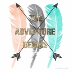 The Adventure Begins Feathers Absorbent Beverage Coasters, Set of 12