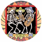 The Band Skeletons Beverage Coasters by Hand N Hand Designs, Set of 12