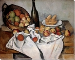 The Basket of Apples Wrapped Canvas Giclee Print Wall Art
