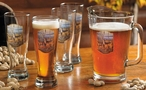 The Birch Line Whitetail Deer Beer Glasses and Pitcher Five Piece Set
