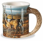 The Birch Line Whitetail Deer Sculpted Stoneware Coffee Mugs, Set of 6