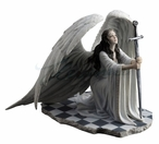 The Blessing Guardian Angel Sculpture by Anne Stokes