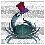 The Dandy Crab Print Absorbent Beverage Coasters, Set of 12
