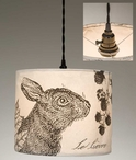 The Hare Bunny Rabbit Canvas Pendant Lamp Light