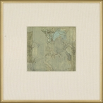 The Knight Matted and Framed Art Print Wall Art