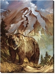 The Legend Grizzly Bear Wrapped Canvas Giclee Print Wall Art