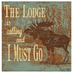 The Lodge is Calling Moose Absorbent Beverage Coasters, Set of 8
