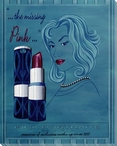 The Missing Pink Lipstick Wrapped Canvas Giclee Print Wall Art