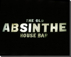 The Old Absinthe House Bar Sign Wrapped Canvas Giclee Print