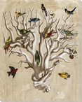 The Ornithologist's Dream Bird I Wrapped Canvas Giclee Print