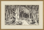 The Path Matted and Framed Art Print Wall Art by Carel Nicolaas