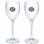 The Pentagon Blue Pewter Accent Wine Glass Goblets, Set of 2