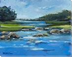 The River Wrapped Canvas Giclee Print Wall Art