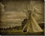 The Teepee Wrapped Canvas Giclee Print Wall Art