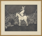 The Tightrope Matted and Framed Art Print Wall Art