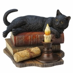 The Witching Hour Cat Sculpture by Lisa Parker
