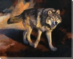 The Wolf Road Wrapped Canvas Giclee Print Wall Art
