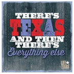 There's Texas Beverage Coasters by Life Is Country, Set of 12