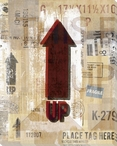This End Up Red Arrow Wrapped Canvas Giclee Print Wall Art