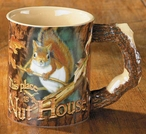 This Place is a Nut House Squirrel Stoneware Coffee Mugs, Set of 6