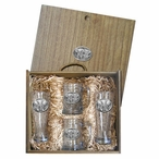 Three Elephants Pilsner Glasses & Beer Mugs Box Set w/ Pewter Accents
