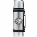 Three Mallard Ducks Stainless Steel Thermos with Pewter Accent