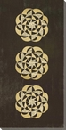 Three Medallion 1 Wrapped Canvas Giclee Print Wall Art