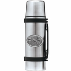 Three Pheasants Stainless Steel Thermos with Pewter Accent