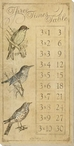 Three Times Table with Birds Wrapped Canvas Giclee Print Wall Art