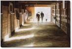 Three to Face the World Cowboy Wrapped Canvas Giclee Print