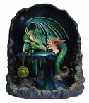 Time Dragon Emerald Sculpture by Rose Khan