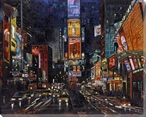 Time Square New York Wrapped Canvas Giclee Print Wall Art
