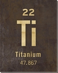 Titanium - Periodic Table of Elements Wrapped Canvas Giclee Art Print