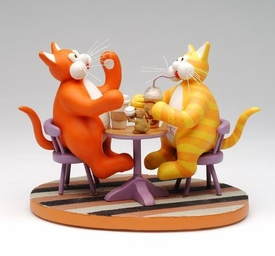 Tom Cats Coffee Chat Cat Sculpture