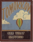 """Tomorrow"" See What Happens Wrapped Canvas Giclee Print Wall Art"