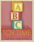 Toy Time Wooden Blocks Pink Wrapped Canvas Giclee Print Wall Art