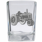Tractor Pewter Accent Shot Glasses, Set of 4