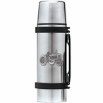 Tractor Stainless Steel Thermos with Pewter Accent