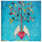 Tree of Life with Birds Absorbent Coasters by Courtney Prahl, Set of 8