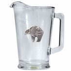 Tribal Bear Glass Pitcher with Pewter Accent