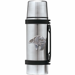 Tribal Bear Stainless Steel Thermos with Pewter Accent