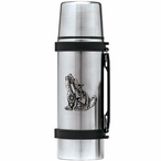 Tribal Coyote Stainless Steel Thermos with Pewter Accent