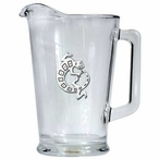 Tribal Lizard Glass Pitcher with Pewter Accent