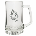 Tribal Lizard Glass Super Beer Mug with Pewter Accent