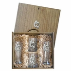 Tribal Lizard Pilsner Glasses & Beer Mugs Box Set with Pewter Accents