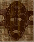 Tribal Mask 3 Wrapped Canvas Giclee Print Wall Art