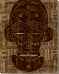 Tribal Mask 4 Wrapped Canvas Giclee Print Wall Art