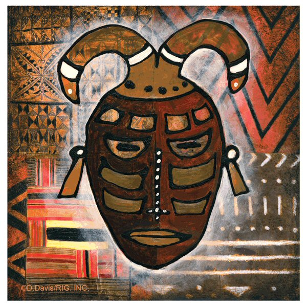 Tribal mask iii absorbent beverage coasters by d davis set of 12 drink coasters thirstystone - Drink coasters absorbent ...