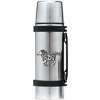 Tribal Pony Stainless Steel Thermos with Pewter Accent