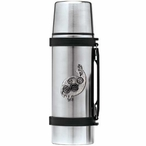 Tribal Quail Bird Stainless Steel Thermos with Pewter Accent